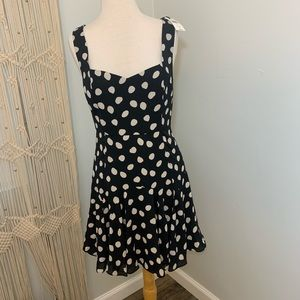 Fame and Partners Polka Dot Jackie O Retro Dress